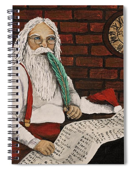 Santa Is Checking His List Spiral Notebook