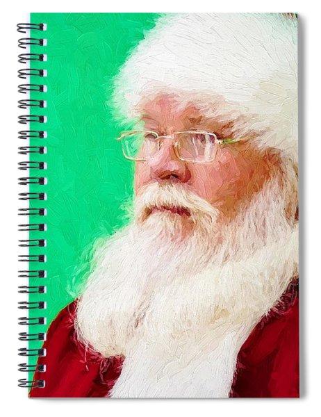 Santa Spiral Notebook
