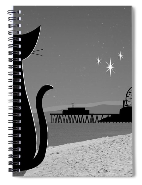 Santa Monica Pier Spiral Notebook