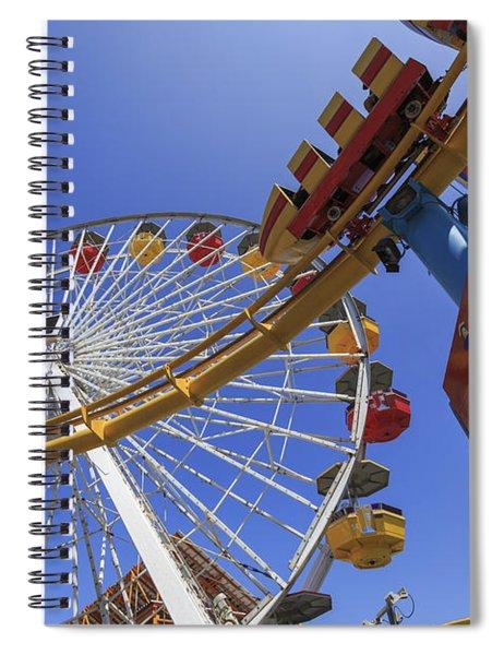 Santa Monica Pier Pacific Plunge Spiral Notebook
