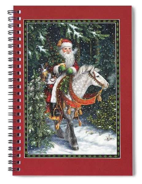 Santa Of The Northern Forest Spiral Notebook