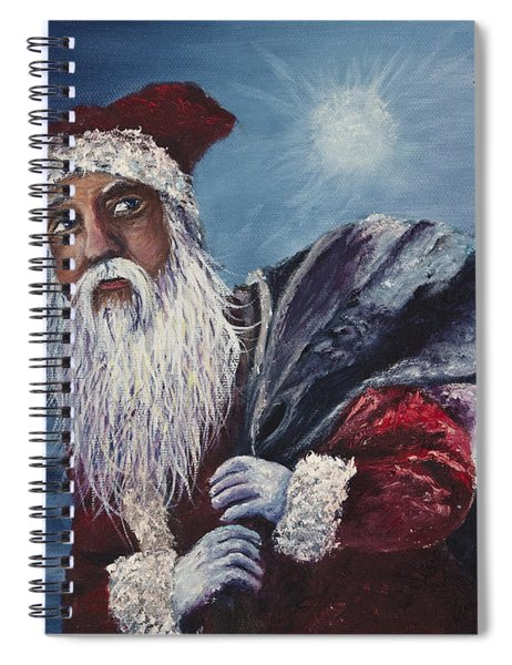 Santa With His Pack Spiral Notebook
