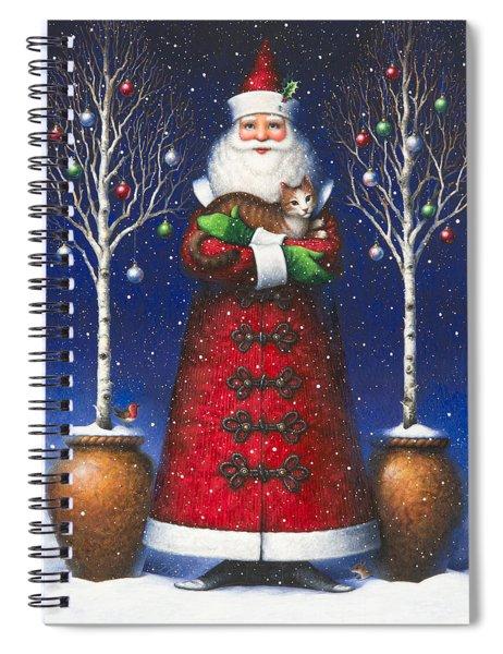 Santa's Cat Spiral Notebook