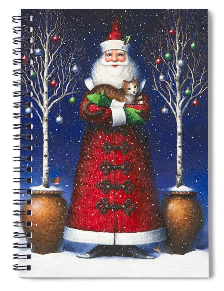 Santa's Cat Spiral Notebook