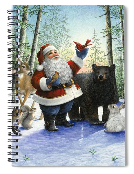 Santa's Christmas Morning Spiral Notebook