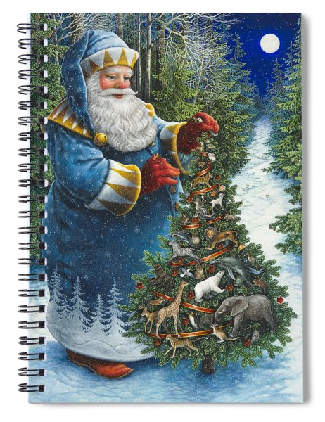 Santa's Christmas Tree Spiral Notebook