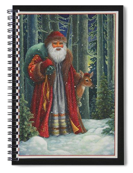Santa's Journey Spiral Notebook