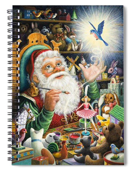 Santa's Workshop Spiral Notebook