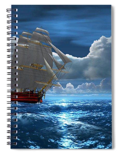 Santisima Trinida In The Moonlight Spiral Notebook