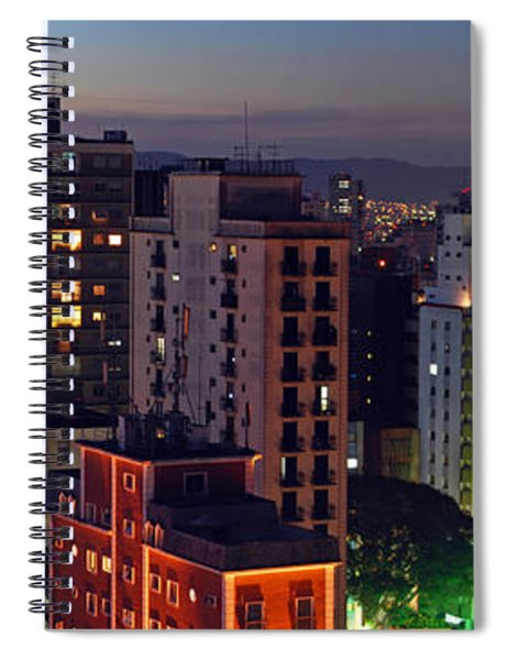 Sao Paulo Downtown At Dusk Spiral Notebook
