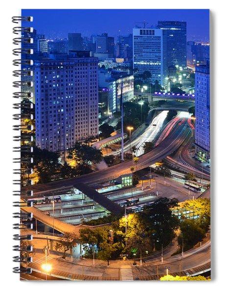 Sao Paulo Skyline - Downtown Spiral Notebook