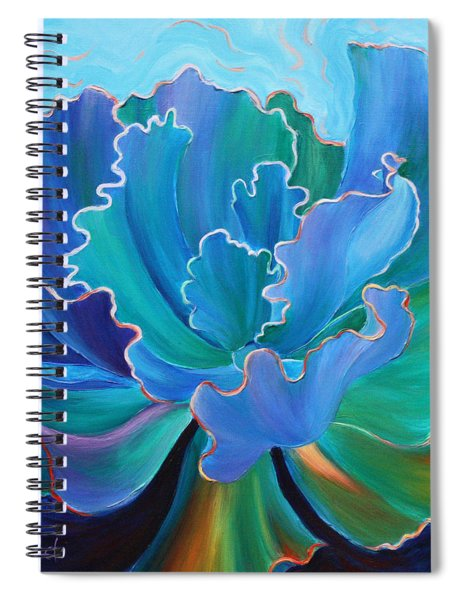Spiral Notebook featuring the painting Sapphire Solitaire by Sandi Whetzel