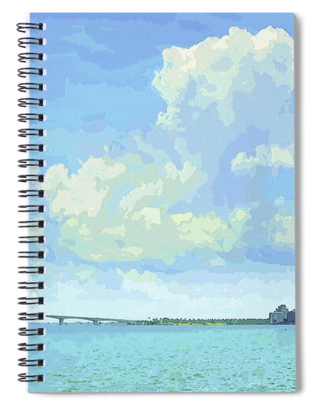 Sarasota Skyline From Sarasota Bay Spiral Notebook
