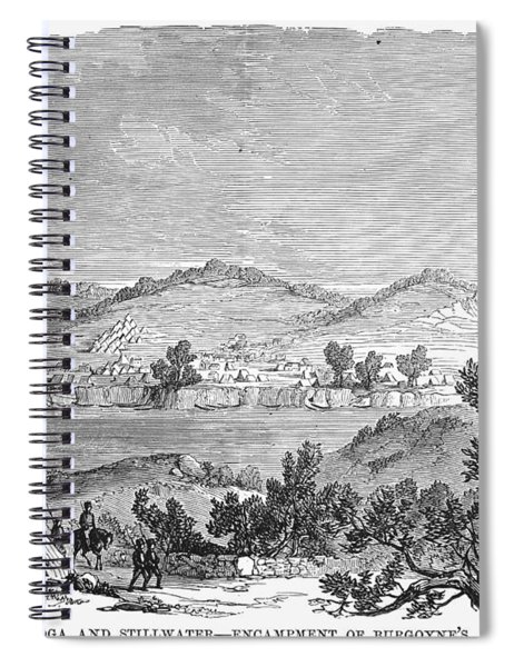 Saratoga: Encampment, 1777 Spiral Notebook