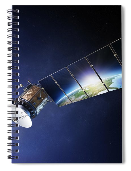 Satellite Communications With Earth Spiral Notebook