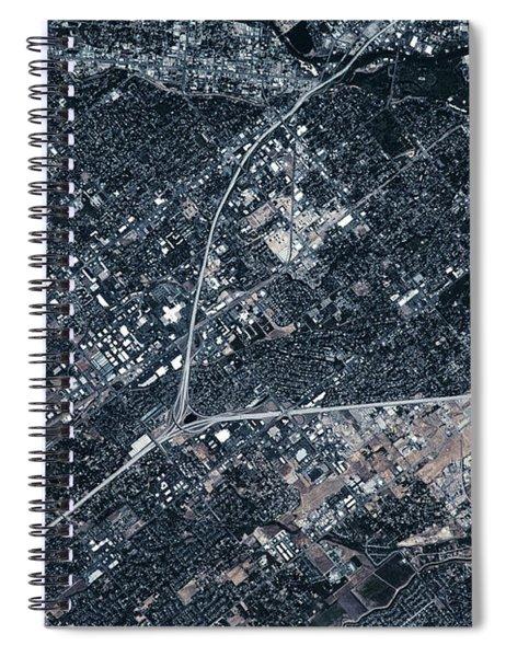 Satellite View Of Boise, Idaho, Usa Spiral Notebook