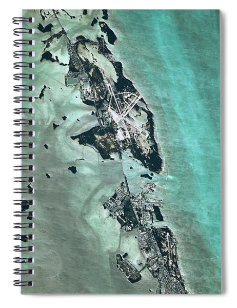 Satellite View Of Naval Air Station Spiral Notebook