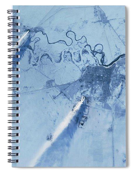 Satellite View Of Pavlodar Province Spiral Notebook