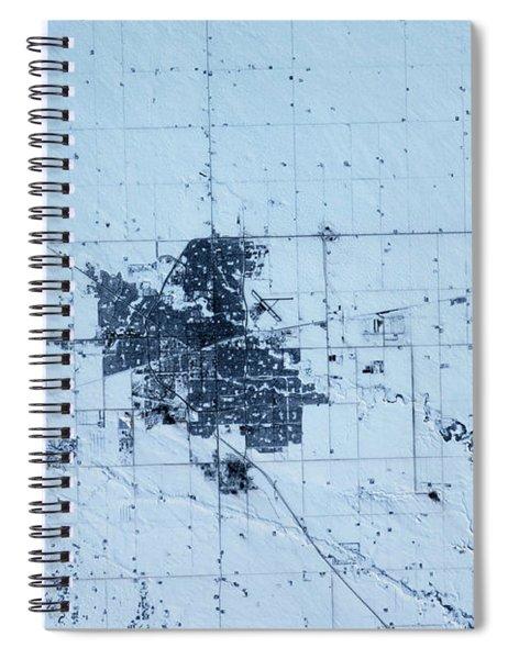 Satellite View Of Regina, Saskatchewan Spiral Notebook