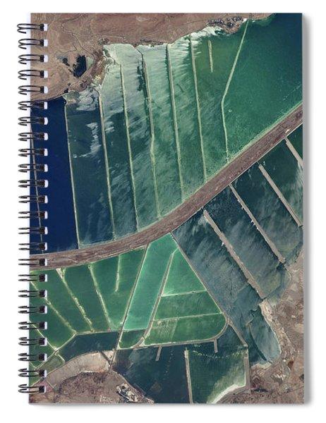 Satellite View Of Salt Evaporation Spiral Notebook