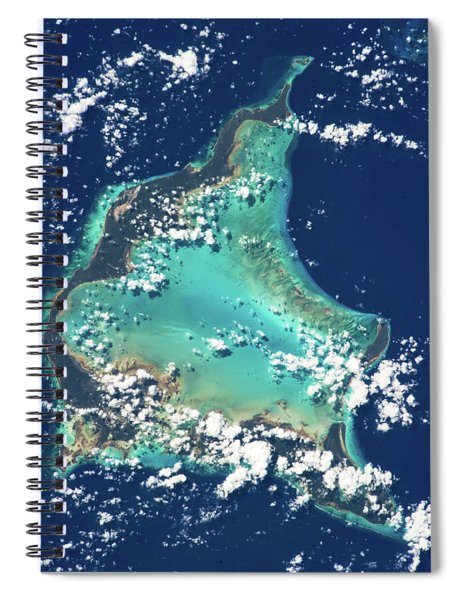 Satellite View Of Turks And Caicos Spiral Notebook