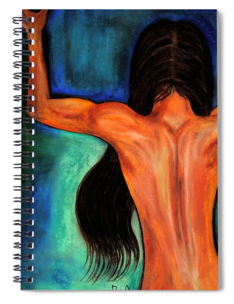 Satin Curves Spiral Notebook