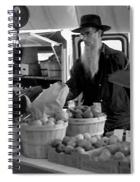 Saturday Morning On The Farmers Market Spiral Notebook