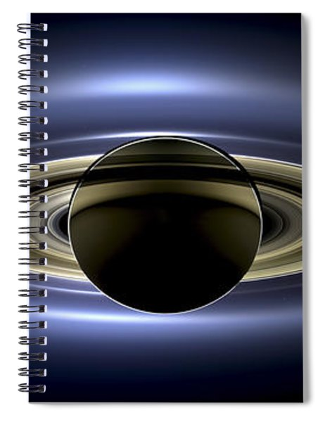 Saturn Mosaic With Earth Spiral Notebook