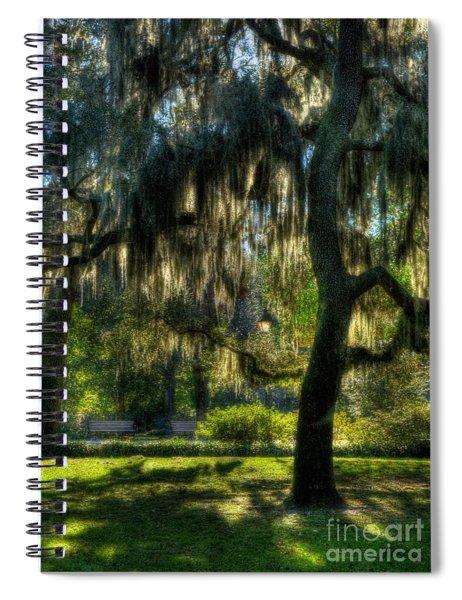 Spiral Notebook featuring the photograph Savannah Sunshine by Mel Steinhauer