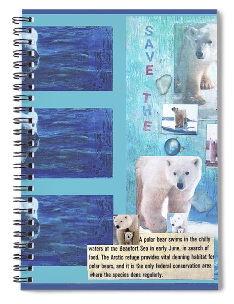 Save The Polar Bear Now Or Never Spiral Notebook
