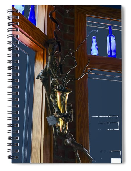 Sax At The Full Moon Cafe Spiral Notebook