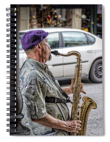 Sax In The Street Spiral Notebook