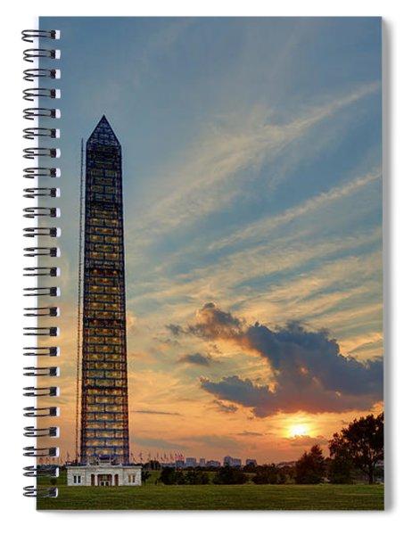 Scaffolding At Sunset Spiral Notebook