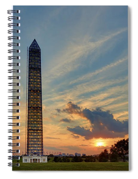 Scaffolding At Sunset Spiral Notebook