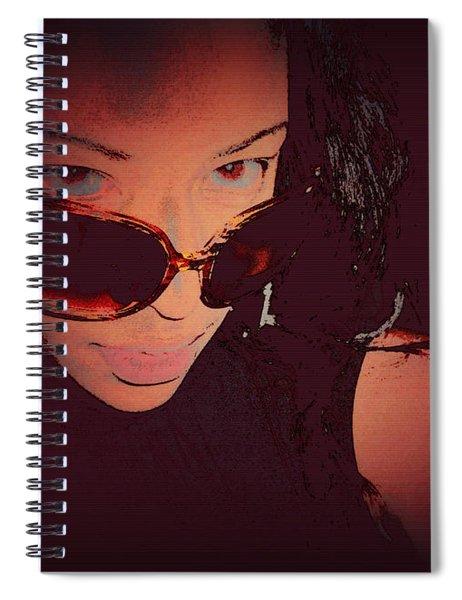 Futuristic Women Sunglasses Fashion Style Art Print Ai P. Nilson  Spiral Notebook