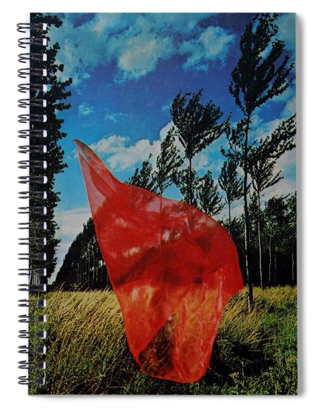Scarf In The Winds Spiral Notebook