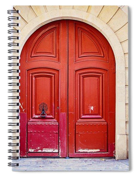 Scarlet Red Doors - Paris Spiral Notebook