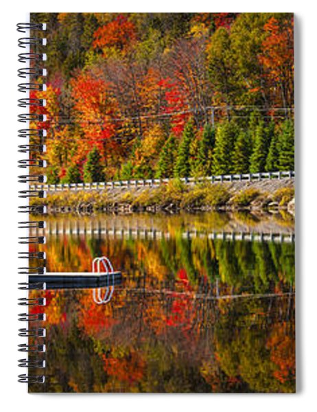 Scenic Road In Fall Forest Spiral Notebook