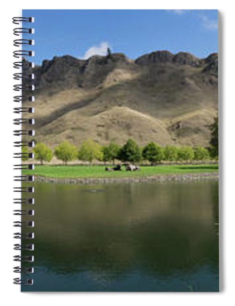 Scenic View Of Te Mata Peak From Craggy Spiral Notebook