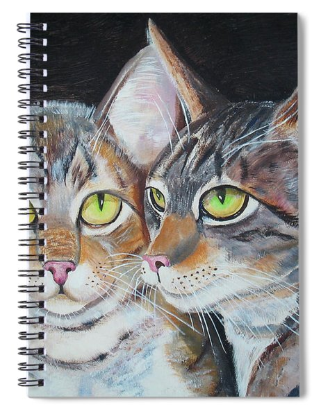 Scheming Cats Spiral Notebook