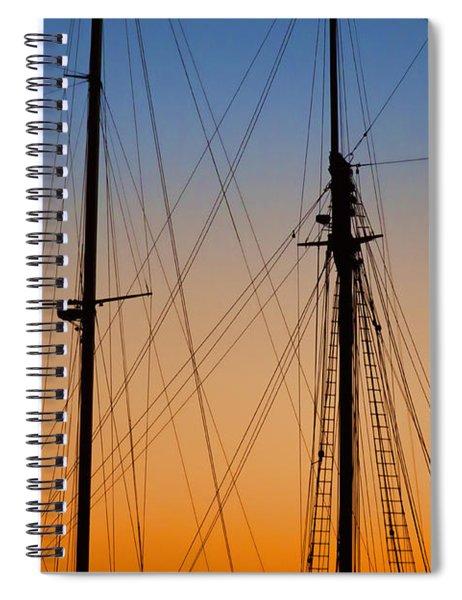 Schooner Masts Martha's Vineyard Spiral Notebook