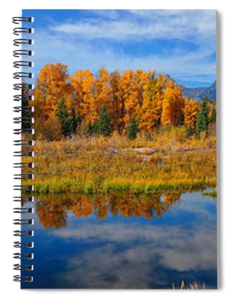 Schwabacher Autumn Reflections Panorama Spiral Notebook