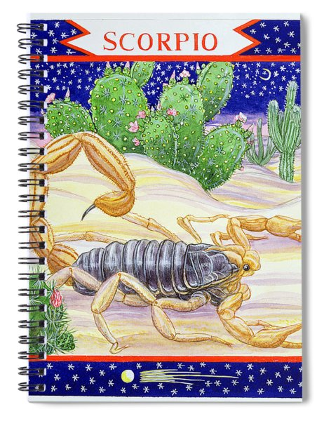 Scorpio Wc On Paper Spiral Notebook