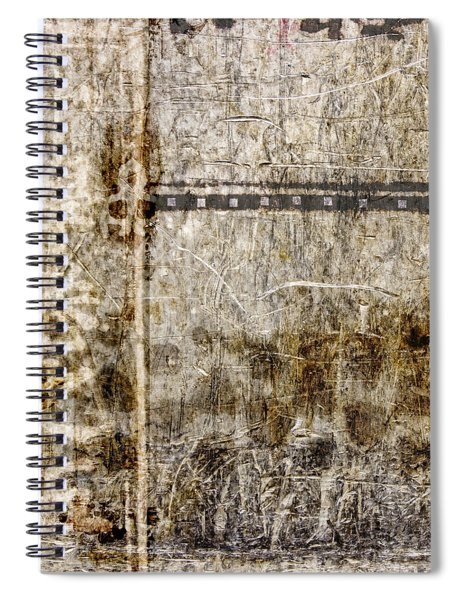 Scratched Metal And Old Books Number 1 Spiral Notebook