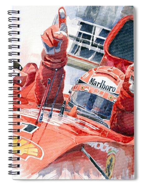 2001 Scuderia Ferrari Marlboro F 2001 Ferrari 050 M Schumacher  Spiral Notebook