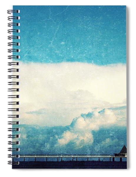 Sea Beach Pier Spiral Notebook