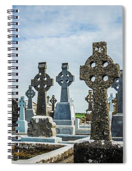 Sea  Of Celtic Crosses Spiral Notebook