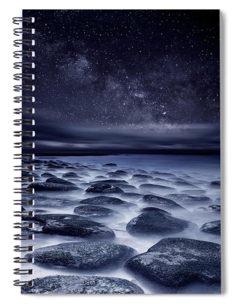 Sea Of Tranquility Spiral Notebook by Jorge Maia