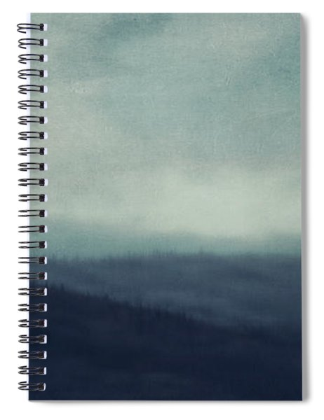 Sea Of Trees And Hills Spiral Notebook