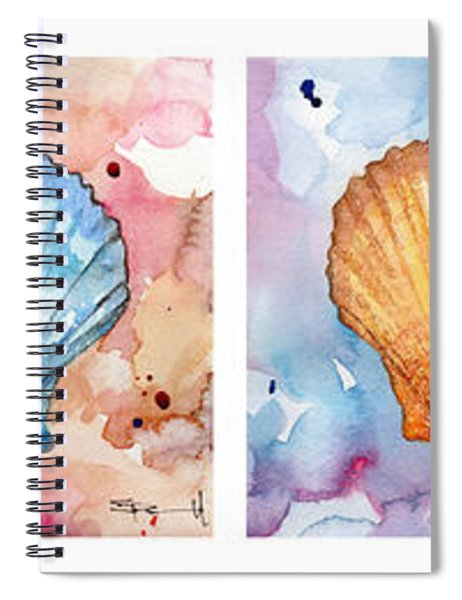 Sea Shells In Contrast Spiral Notebook